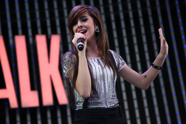 Christina Grimmie performing in concert